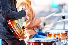 Festival Music Band. Hands Pla...