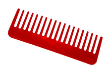 Red Comb Isolated On White Bac...