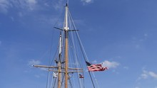 Tall Ship Mast With American F...