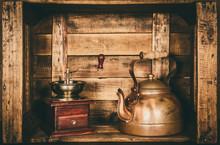 Coffee And Tea Vintage Grinder