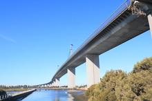 Westgate Bridge In Melbourne A...