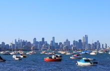 Melbourne Yacht Harbour Cityscape Australia
