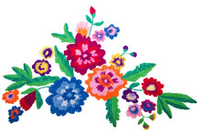 Embroidery Bouquet Flowers Iso...