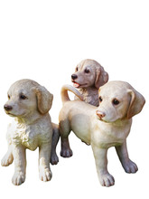 Three Dog Statue On White Isol...