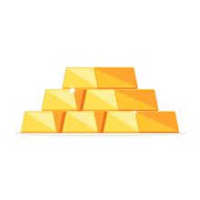 Stack Of Shiny Gold Ingots, Ba...