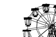 Vintage Ferris Wheel Silhouette.