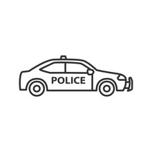 Police Car Linear Icon