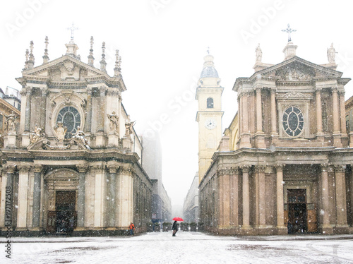 Photo  Torino piazza San Carlo in Inverno