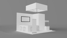 White Exhibition Booth Bar