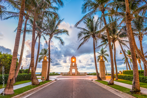 Photo sur Toile Brun profond Worth Ave, West Palm Beach, Florida