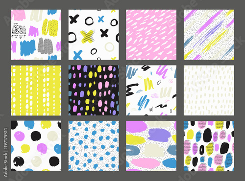 Recess Fitting Pattern Collections of colorful seamless pattern.
