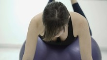 Frog Exercise For But, Woman In Gym