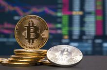 Bitcoin Mit Livekurs Im Hintergrund
