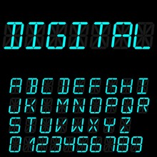 Digital Font Signs Made Up Fro...