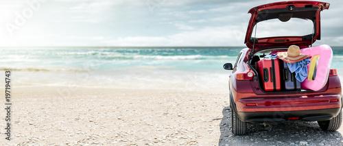 summer car on beach