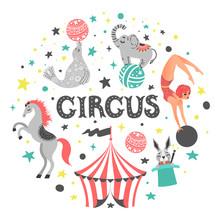 Vector Illustration Of Circus ...
