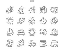 Speed Well-crafted Pixel Perfect Vector Thin Line Icons 30 2x Grid For Web Graphics And Apps. Simple Minimal Pictogram