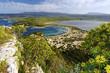 Westküste des Peloponnes mit Blick auf die Ochsenbauchbucht / Voidokilia und die Gialova-Lagune