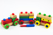 Wooden train toys, Brain development, Skills Preschool