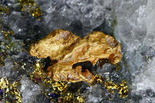 Fényképezés  Big nugget of gold and quartz from Lapland