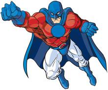 Patriotic Male Superhero Vecto...