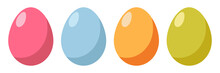 Easter Colored Eggs. Vector Flat Illustration.
