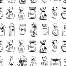 Seamless Pattern With Perfume