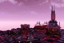 Future City In A Fatasy World