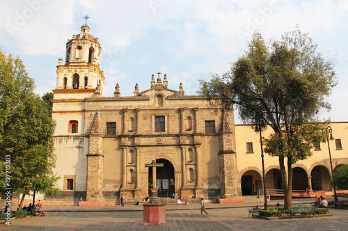 Iglesia de San Juan Bautista Coyoacan Mexico #197219383