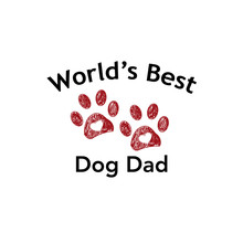 Red Paw Print And Heart. ''Wor...