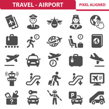 Travel & Airport Icons. Profes...