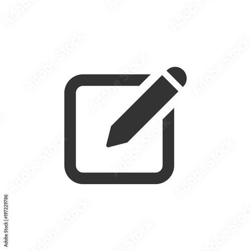 Fototapeta Notepad edit document with pencil icon. Vector illustration. Business concept note edit pictogram. obraz