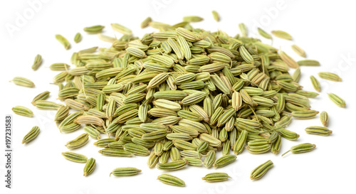 Fotografie, Obraz  dried fennel seeds isolated on white