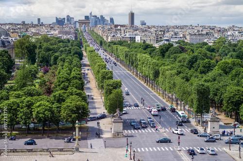 Champs-Élysées, Arc de Triomphe, La Défense Canvas-taulu