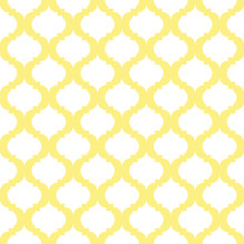 White And Yellow Quatrefoil Pattern