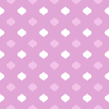 White And Pink Quatrefoil Patt...
