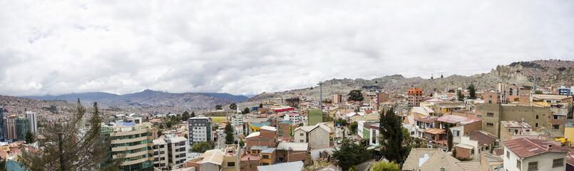Fototapeta Aerial view at La Paz, Bolivia