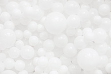 A Lot Of White Balloons For Background Use. Balloons Texture.