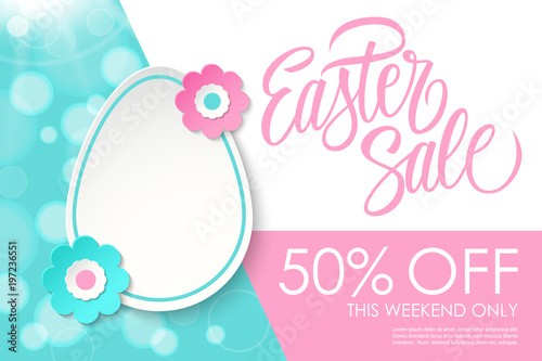 Easter Sale banner Canvas Print