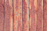 Old wooden fence with cracked paint