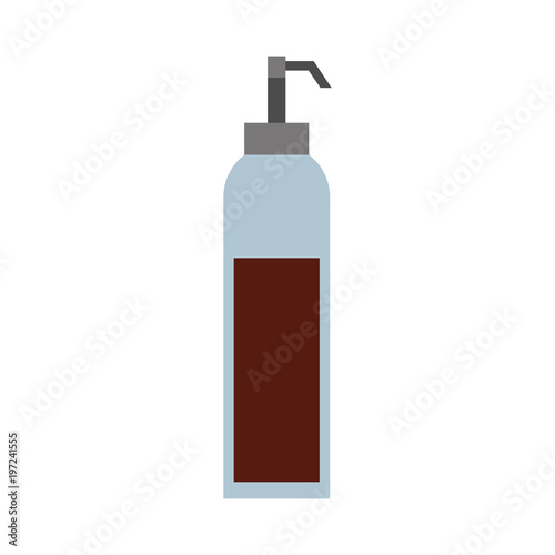 dispenser of sauce ingredient condiment vector illustration Poster