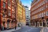 Fototapeta Londyn - Historical buildings in London city center, England, UK