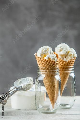 Staande foto Vlees Ice cream cone