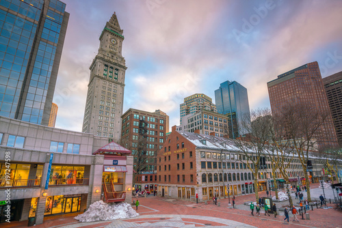 Outdoor Market At Quincy And South In The Historic Area Of Boston