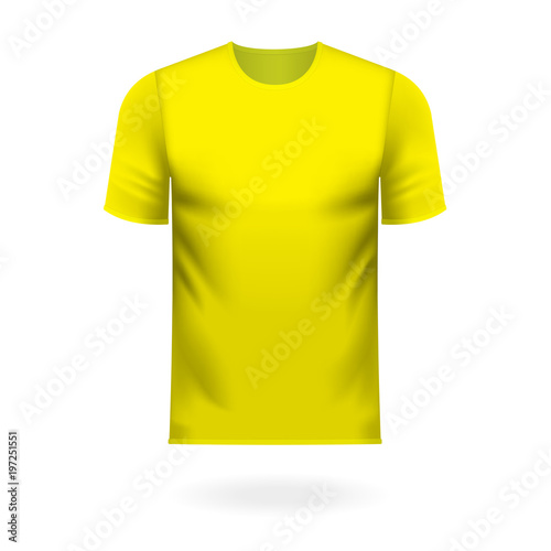 Round neck tee shirt in generic yellow color - Buy this stock vector ... 40dd27fb0ee