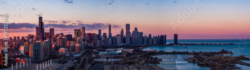 Photo sur Toile Chicago Panorama of Chicago