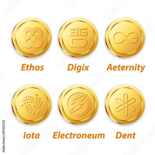 Fotografie, Obraz  Digital Vector Coin Gold