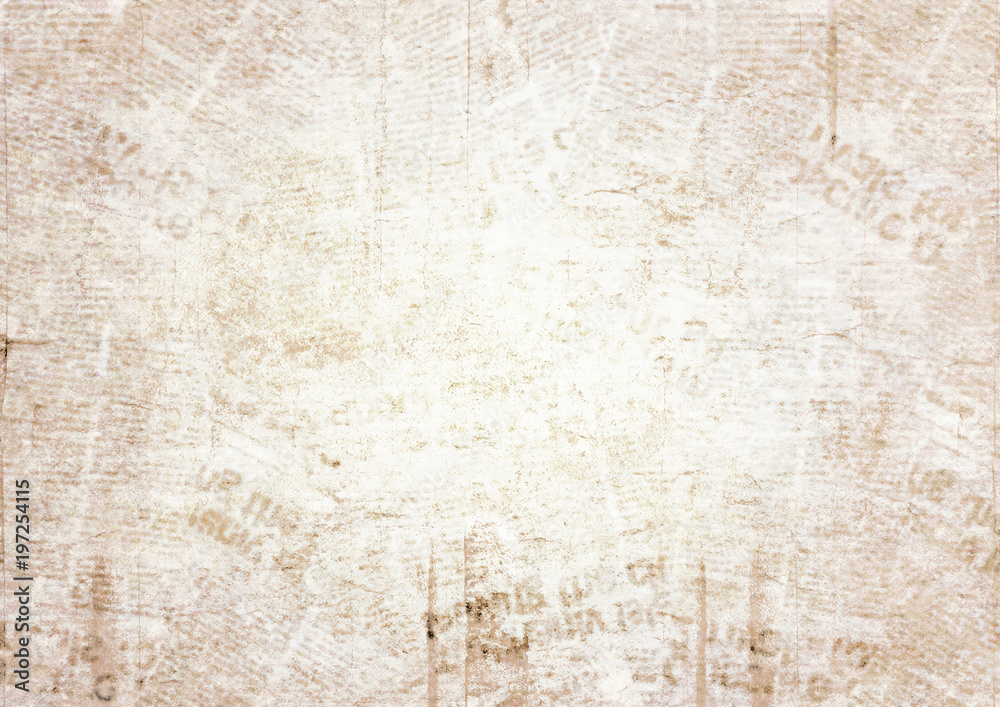 Fototapety, obrazy: Old grunge newspaper texture background