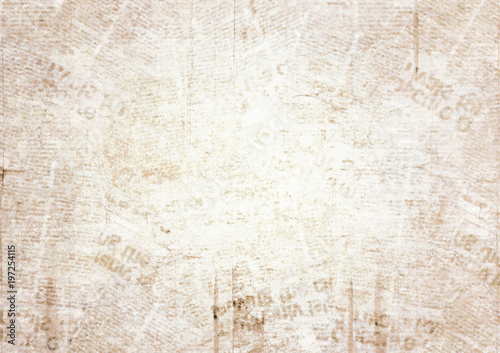 Photo sur Aluminium Retro Old grunge newspaper texture background
