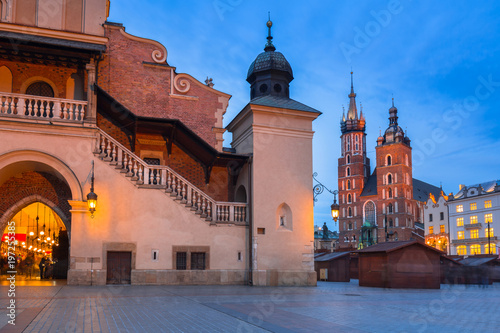 The Krakow Cloth Hall on the Main Square at night, Poland © Patryk Kosmider